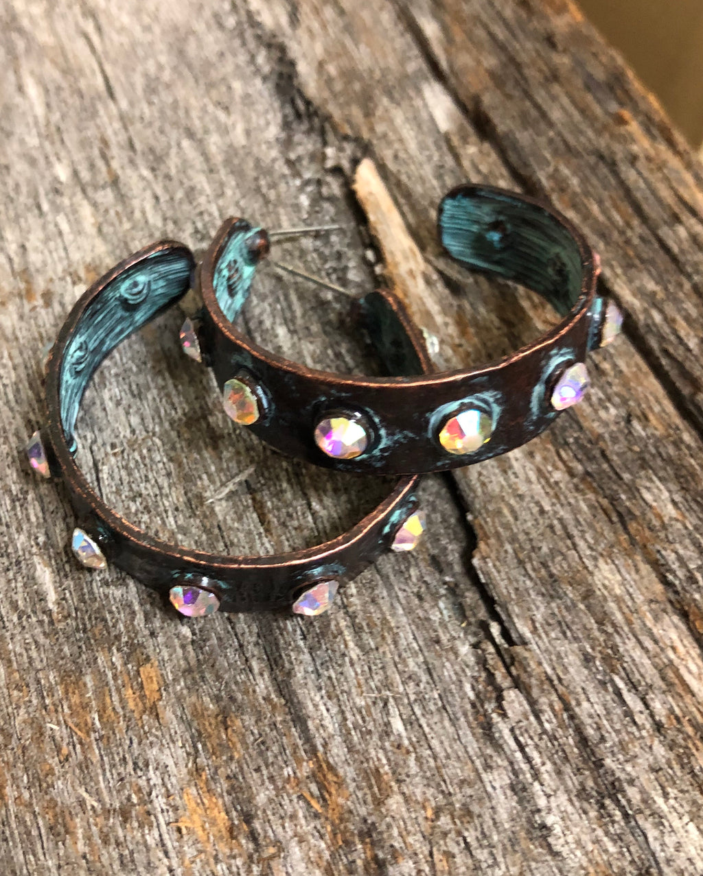 Western Earrings - Patina Hoop