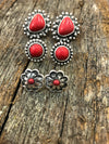 Earring Trio - Red