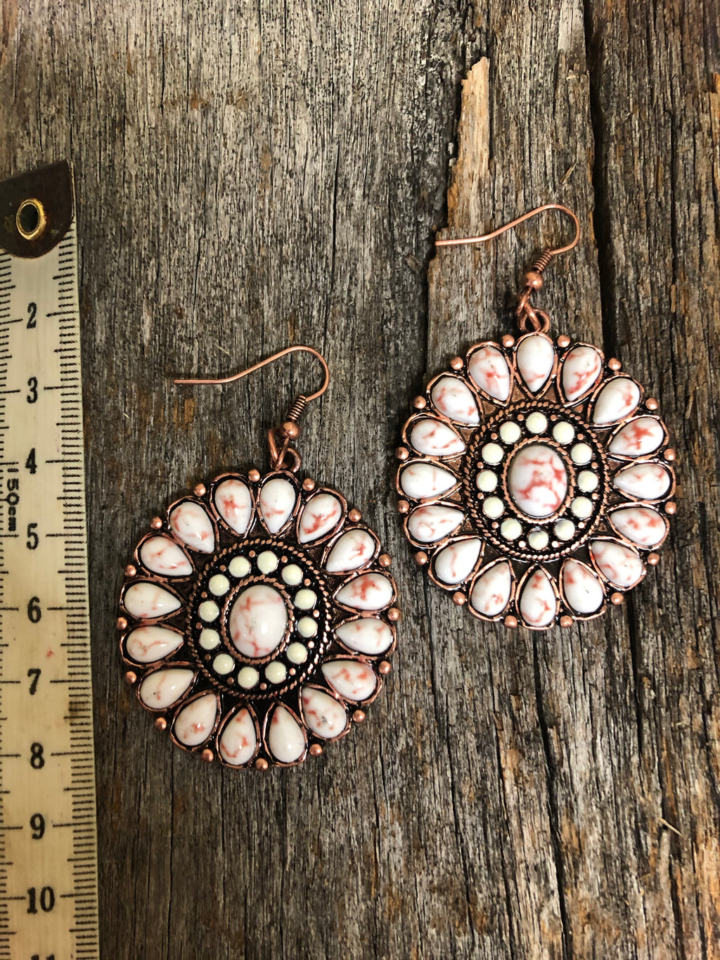Western Earrings - Burnished Copper