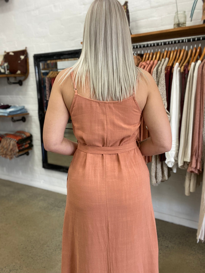 Ora Dress - Rust