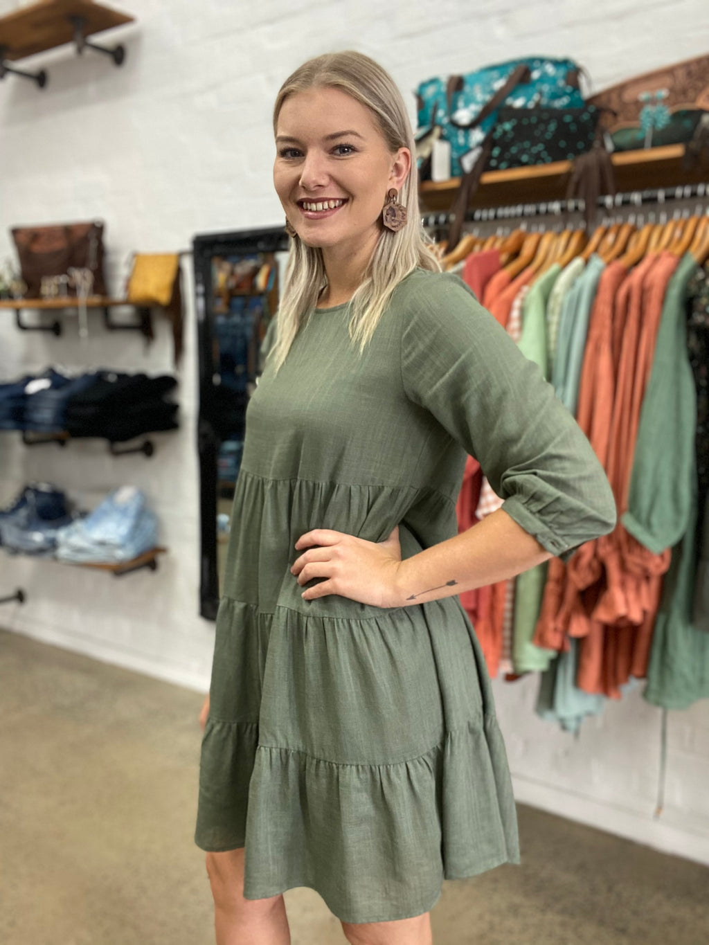 Tilly Dress - Khaki