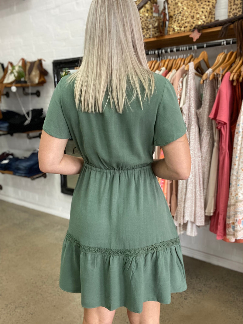 Taylee Dress - Forest Green