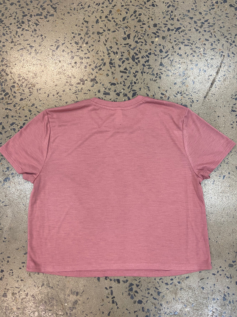 Be A Gypsy Cropped Tee - Mauve