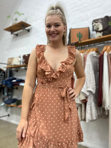 Kylie Dress - Rust