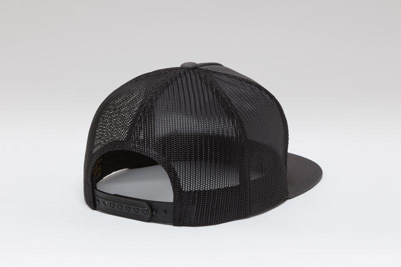 Kimes Ranch Banner Ventilated Trucker Cap - Charcoal/Black
