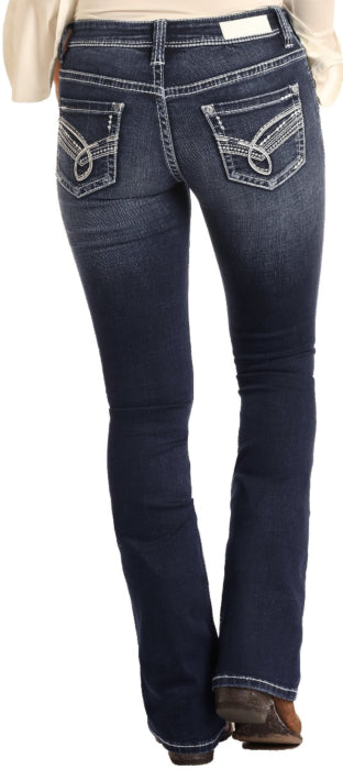 Rock & Roll Cowgirl Jeans - W6-4114 - Rival Low Rise