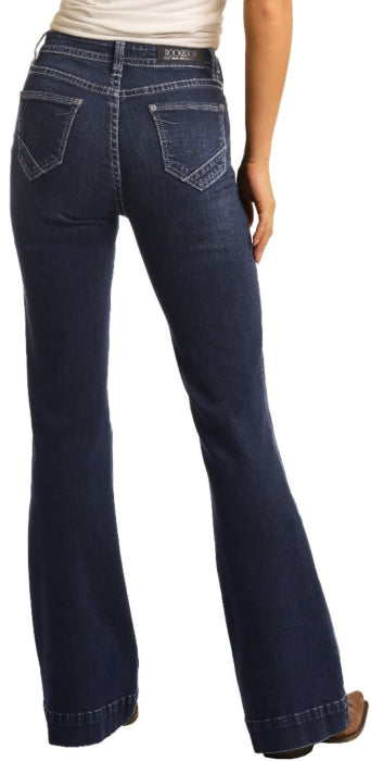 Rock & Roll Cowgirl Jeans - W8H4165 - High Rise Trouser