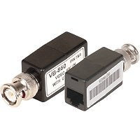 Passive Video Balun (RJ-45 Type), Camera and Monitor Side