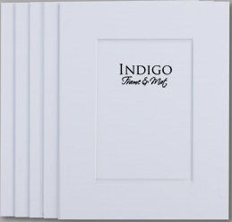 SET of 10 - GREATPACK 12x16 White Single Mats- Fit 8x12 Photo Art