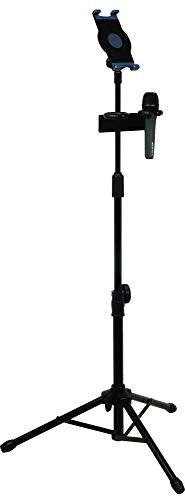 VocoPro MS-UT Universal Tablet Tripod Stand with Dual Mic Holder