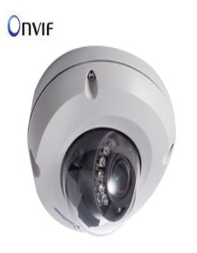 GeoVision 120-EDR1100-0F2 IP Camera GV-EDR1100-0F, Target Series, 1.3MP, 2.8 mm Lens, Low Lux Mini Fixed Rugged Dome with IR, 1I67, POE/12VDC