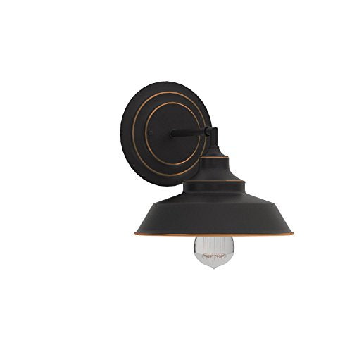 Westinghouse Lighting 6343500 Indoor Wall Fixture, 1-Light Sconce, Oil Rubbed Bronze/White