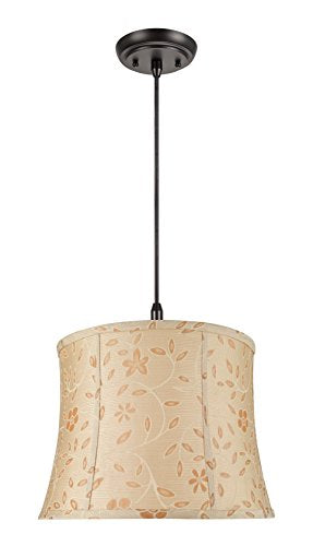 Aspen Creative Gold 70023 Two-Light Pendant with Bell Shaped (Spider) Shade, 14 x 16 x 12