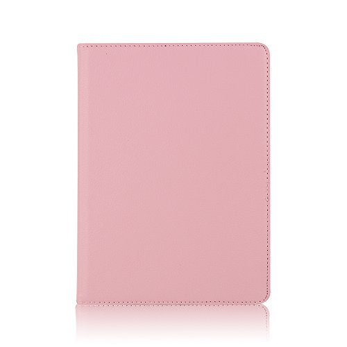 TechCode 9.7 inch iPad air2 Cases iPad 6 Covers, 360 Degrees Rotating Magnetic PU Leather with Stand Smart Case Cover for Apple ipad 6/iPad Air 2 9.7 Inch-Pink
