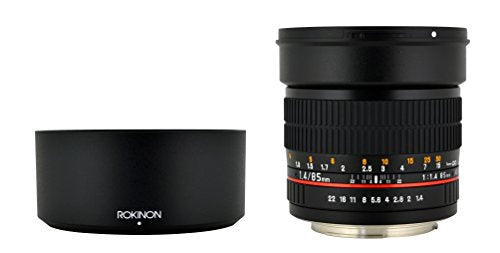 Rokinon 85 M E 85mm F1.4 Fixed Lens For Sony, E Mount And For Other Cameras,Black