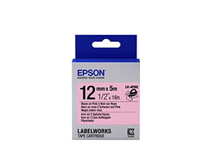 Epson LabelWorks Iron-on LK (Replaces LC) Tape Cartridge ~1/2