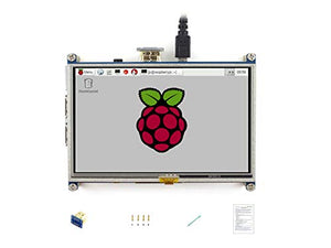 Waveshare Raspberry Pi LCD Display Module 5inch 800480 TFT Resistive Touch Screen Panel HDMI Interface for Any Model of Rapsberry Pi4 A/A+/B/B+/2 B