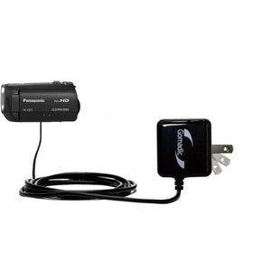 Gomadic Intelligent Compact AC Home Wall Charger Suitable for The Panasonic HC-V201 - High Output Power with a Convenient, Foldable Plug Design - Uses TipExchange Technology