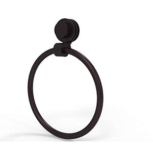 Allied Brass Venus Collection Dotted Accent Towel Ring, Antique Bronze