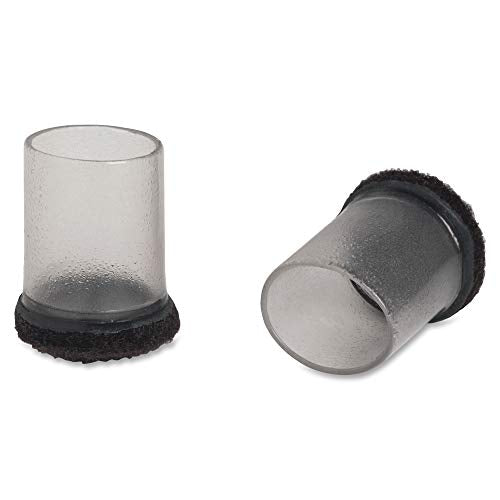 Lorell 49321 Clear Sleeve Floor Protector, 1.25&Quot Diameter, 8 Per Pack