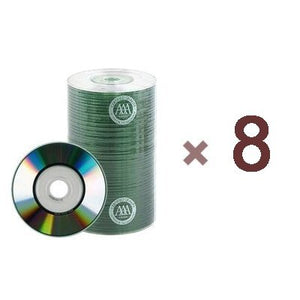 800 Prodisc Spin-x 32x Mini Cd-r Blank Media 22min 193mb Shiny Silver with Free Vinyl Sleeves