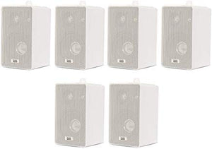 Acoustic Audio 251W Indoor Outdoor 3 Way Speakers 1200 Watt White 3 Pair Pack 251W-3Pr