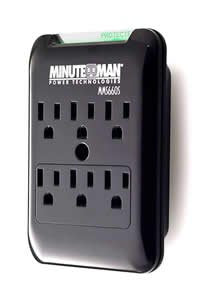 Minute Man - 6 OUTLET WAL TAP 1080 JOULE SURGE