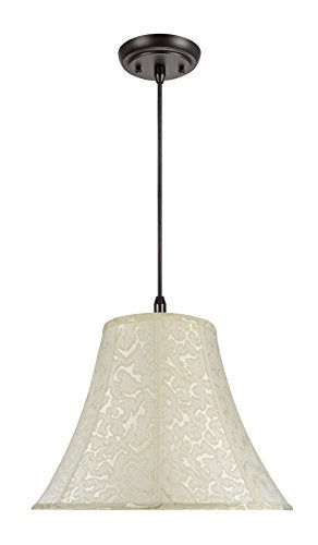 Aspen Creative 70111 Two-Light Pendant with Bell Shaped (Spider) Shade in Off White