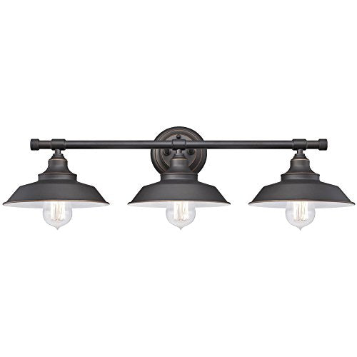Westinghouse Lighting 6343400 Iron Hill Three Light Indoor Wall Fixture, Finish With Highlights And