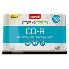 (3 Pack Value Bundle) MAX648250 CD-R Discs, 700MB/80min, 48x, Spindle, Silver