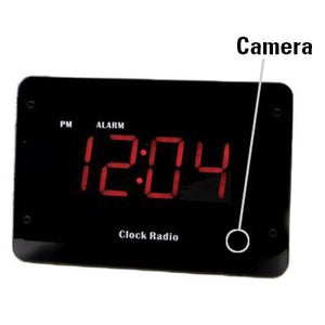 Zone Shield 720p HD WiFi Clock Radio Hidden Camera with PIR Motion Detection