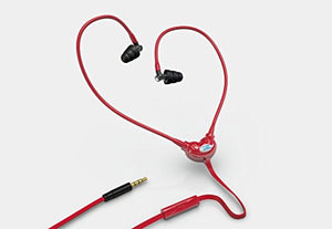 WOREMOR Safe EMF Headset and Anti Radiation Headphones or Protection Earbuds and Earphones with Air Tube Eliminating Electromagnetic Fields (Red)