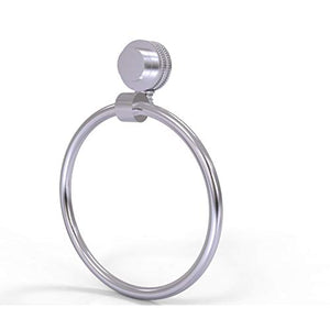 Allied Brass Venus Collection Dotted Accent Towel Ring, Satin Chrome