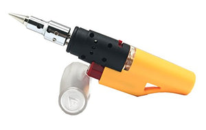 All Splendid Refillable Cordless 2 in 1 Functions Mini Butane Soldering Iron and Heat Hot Air Blower (Yellow)