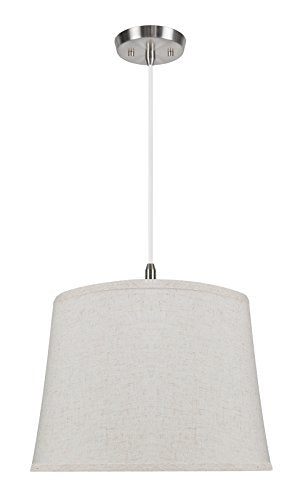 Aspen Creative Beige 72055 Two-Light Pendant with Hardback Shaped (Spider) Shade, 14 x 16 x 12