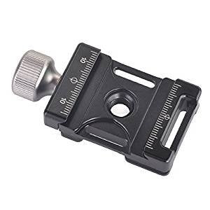 Morjava DC-38Q Aluminum Quick Release Plate Clamp Compatible with Arca Swiss for 38mm QR Plate
