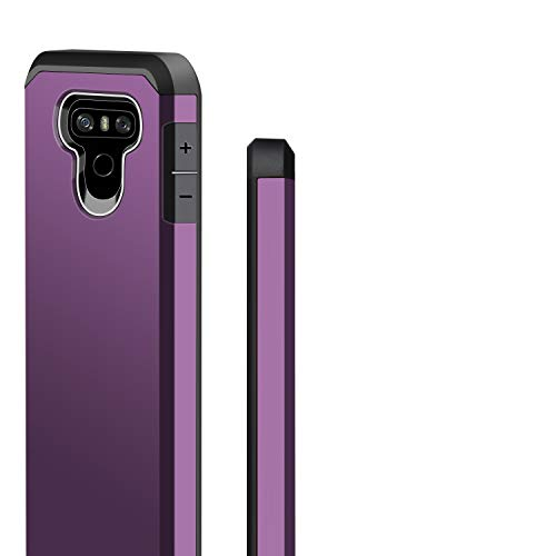 J&D Case Compatible for LG G6 / LG G6 Plus Case, Heavy Duty [Dual Layer] Hybrid Shock Proof Protective Rugged Bumper Case for LG G6 Plus, LG G6 Case - Purple