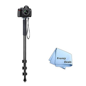 72 Monopod with Quick Release Plate + Frenzy Deals Microfiber Cloth