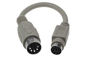 SF Cable, Keyboard PS2 to AT Adapter (6 inch); Din5 Male to MiniDin6 Female