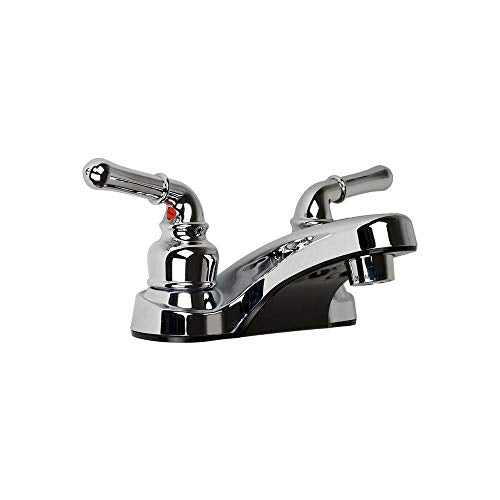 Ultra UF08042C Two-Handle Chrome Non-Metallic Series Lavatory Faucet