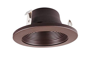 Nicor Lighting 4 Inch Oil Rubbed Bronze Baffle Trim, For 4 Inch Housings (19501 Ob Ob)