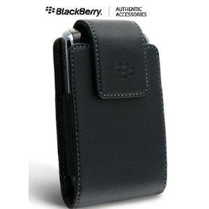OEM (Original) Vertical Leather Case Pouch with Swivel Belt Clip for Alltel BlackBerry Curve 8530