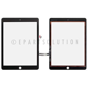 ePartSolution_Touch Screen Digitizer Glass Lens for iPad 6th Gen 2018 Ver. A1893 A1954 Replacement Part (Black)