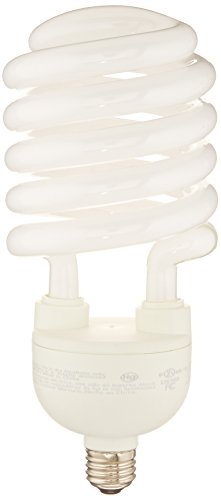 TCP CFL Spring Lamp, 300W Equivalent, Cool White (4100K) MEDIUM (e26) Base Spiral Light Bulb, 4200 Lumens