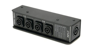 Whirlwind SBNL 1x NL8 to 4x NL4 Parallel-Wired SpeakOn Splitter for Biamped Cabinets, Pairs