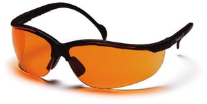 (12 Pair) Pyramex Venture II Glasses Black Frame/Orange Lens (SB1840S)