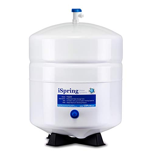 I Spring T32 M Pressurized Water Storage Tank With Ball Valve For Reverse Osmosis Ro Systems, 4 Gallon
