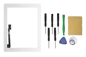White Touch Screen Glass Digitizer Replacement For iPad 4 Black/White +TOOL Kit US