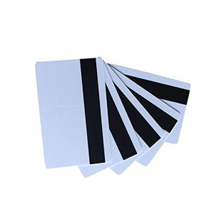 YARONGTECH-10pcs Blank White PVC Hico 1-3 Magnetic Stripe Card Plastic Credit Card 30Mil Magnetic Card with Printable for Card Printer
