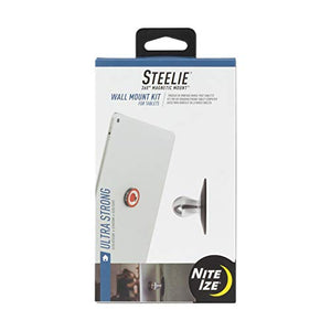 Nite Ize Original Steelie Wall Mount Kit for Tablets - Magnetic Wall Mount for Smartphones + Tablets